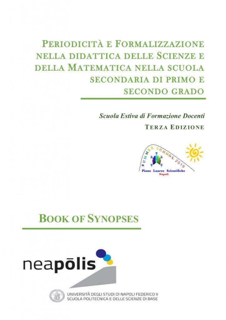 Prima pagina del Book of Synopses della Scuola Estiva per docenti 2019